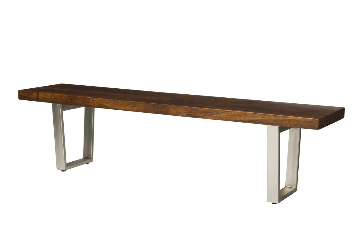 VERDE BENCH - DARK WALNUT/NICKEL ANTIQUE