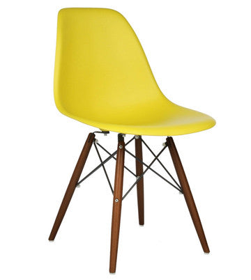 Eiffel chair with various leg and color options