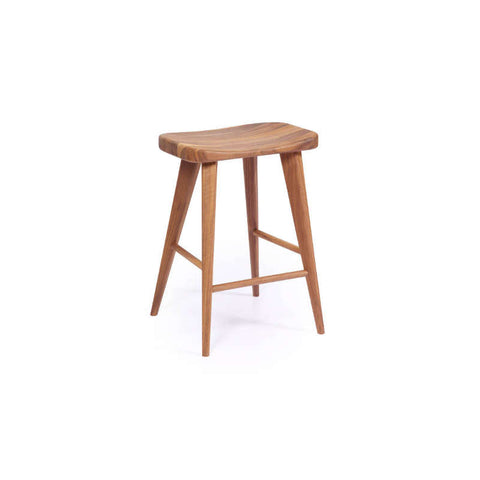 Houston walnut counter stool