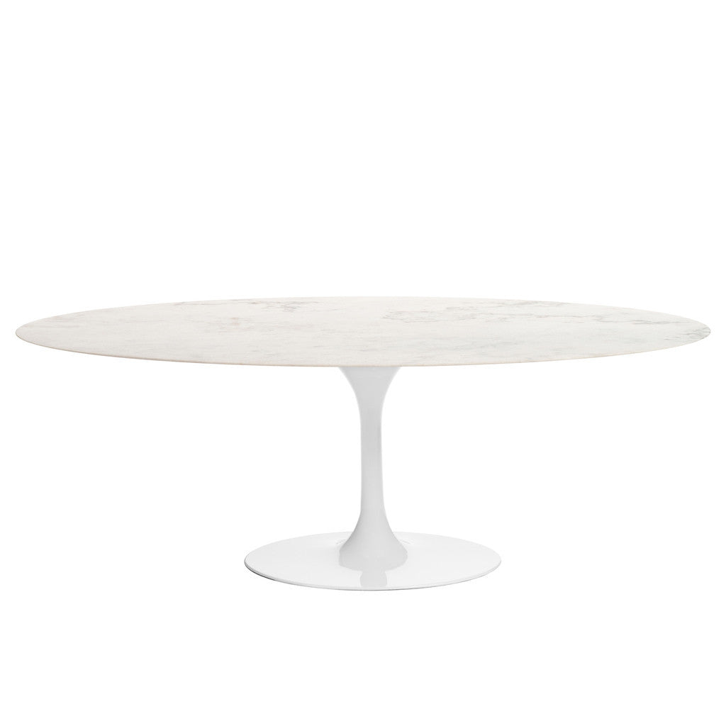 Barbell dining table oval