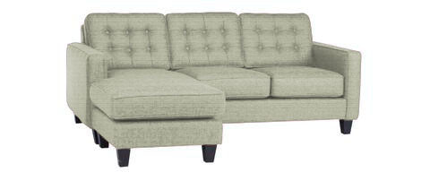 Jonas sofa with reversible chaise as shown in photo.
