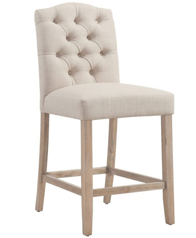 Lucian beige counter stool