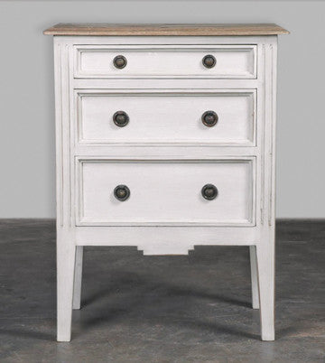 Germain white side table