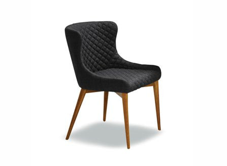 Sidra chair in charcoal fabric