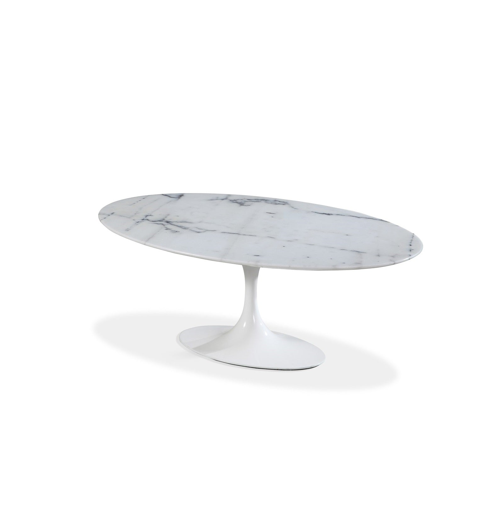 "Oval Marble White dining 78"" $"