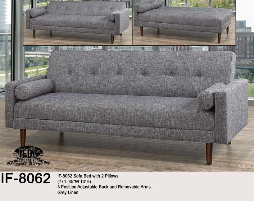 Fold down futon in grey
