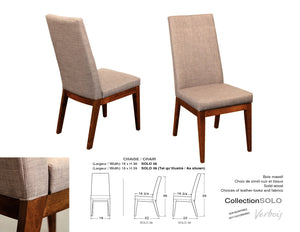 "Solo chair 39"" h"