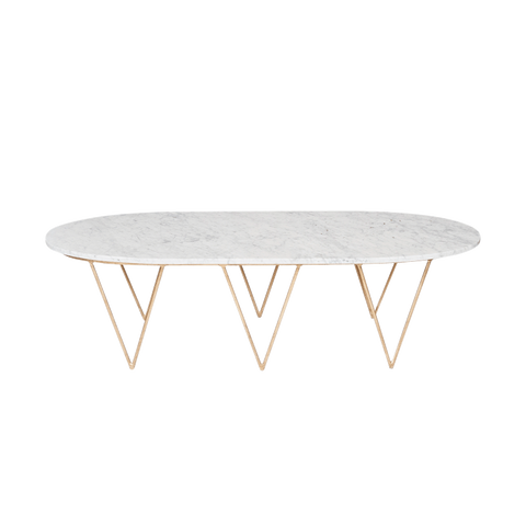 surf marble top coffee table, silver or gold base