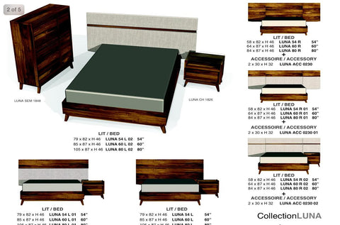 Luna bed wood pricing only