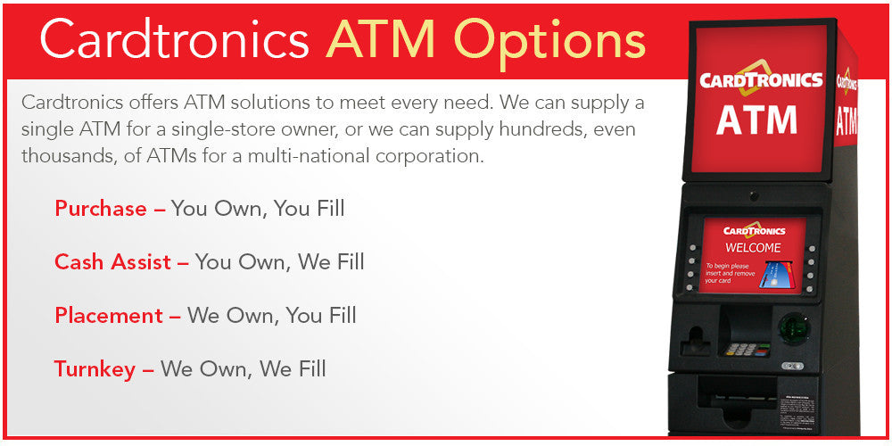 Cardtronics ATM Program Options