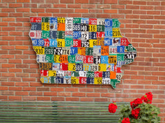 Iowa License Plate Map