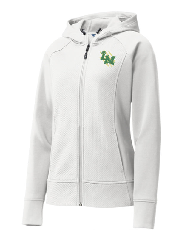 LM Panthers Ladies Rival Tech Fleece Full-Zip Hooded Jacket White ... ad138375f