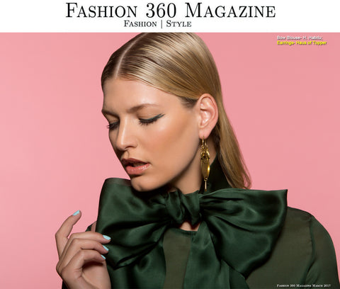 Gold disco earrings in Fashion 360 Magazine