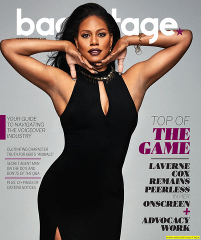 Laverne Cox in Haus of Topper on the cover of Backstage Magazine