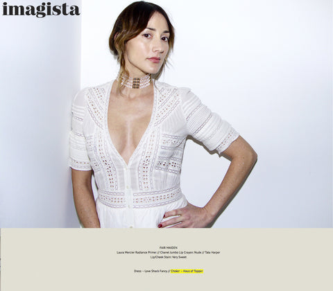 Bree Turner in Haus of Topper CeCe choker in rock crystal