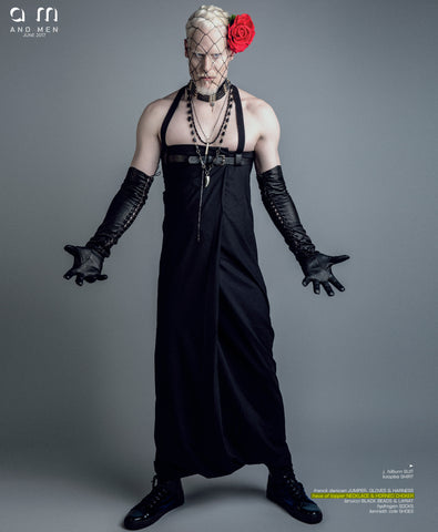 Haus of Topper men's onyx, black stone and pyrite jewelry in And + Men magazine