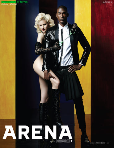 Arena Homme featuring Haus of Topper Crystal shoulder duster earrings