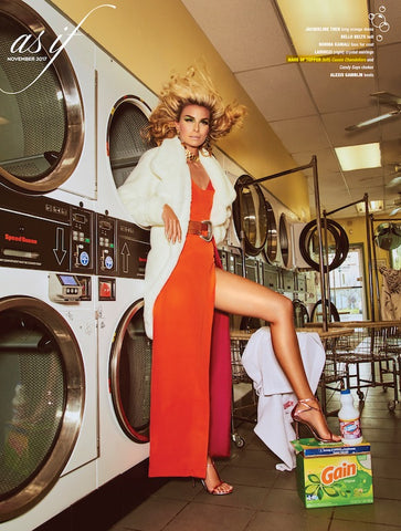 Niki Taylor in Haus of Topper earrings photographed in As If Magazine Fall issue