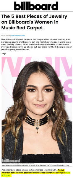 Daya at Billboard women in music December 2016 rocking Haus of Topper choker