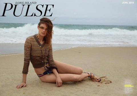 Long Island Pulse Magazine Featuring the Haus of Topper Tassel Necklace