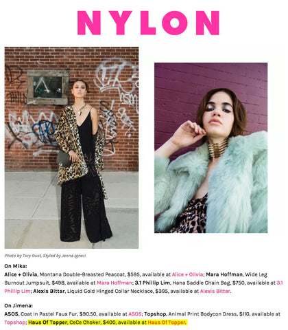 Haus of Topper in Nylon.com editorial