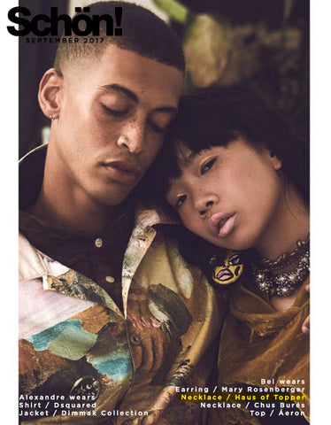 Haus of Topper silver beaded necklace in Schon magazine
