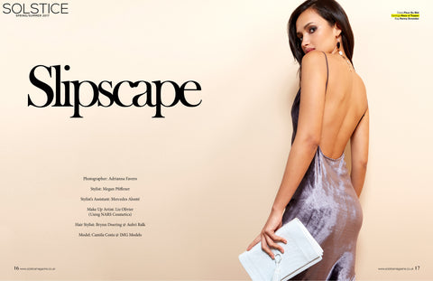 Haus of Topper crystal tear drop earrings in Solstice Magazine