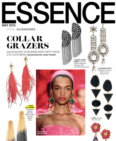 essence magazine feather earrings feature