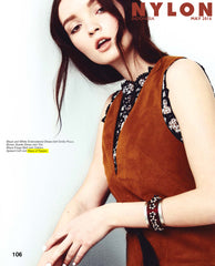 spiked cuff in nylon magazine