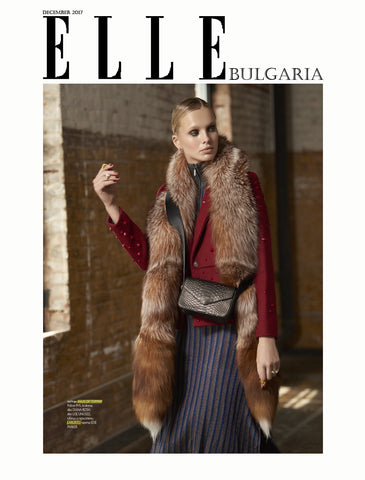 Haus of Topper double diamond etched jacket earrings in Elle Bulgaria