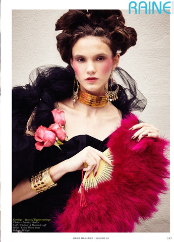 Haus of Topper Deity Earrings in Raine Magazine