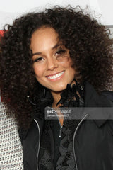 Alicia Keys in the Big Eddie Hoops