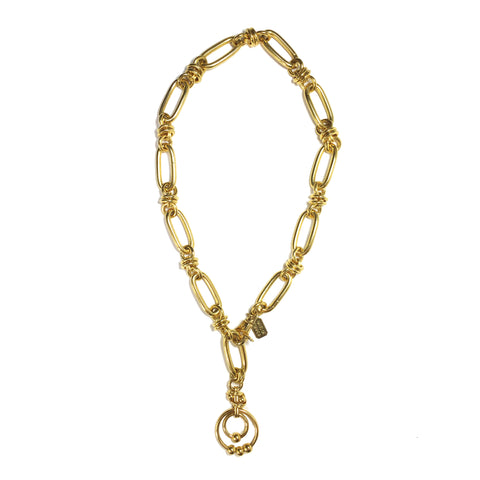 large gold link chain choker