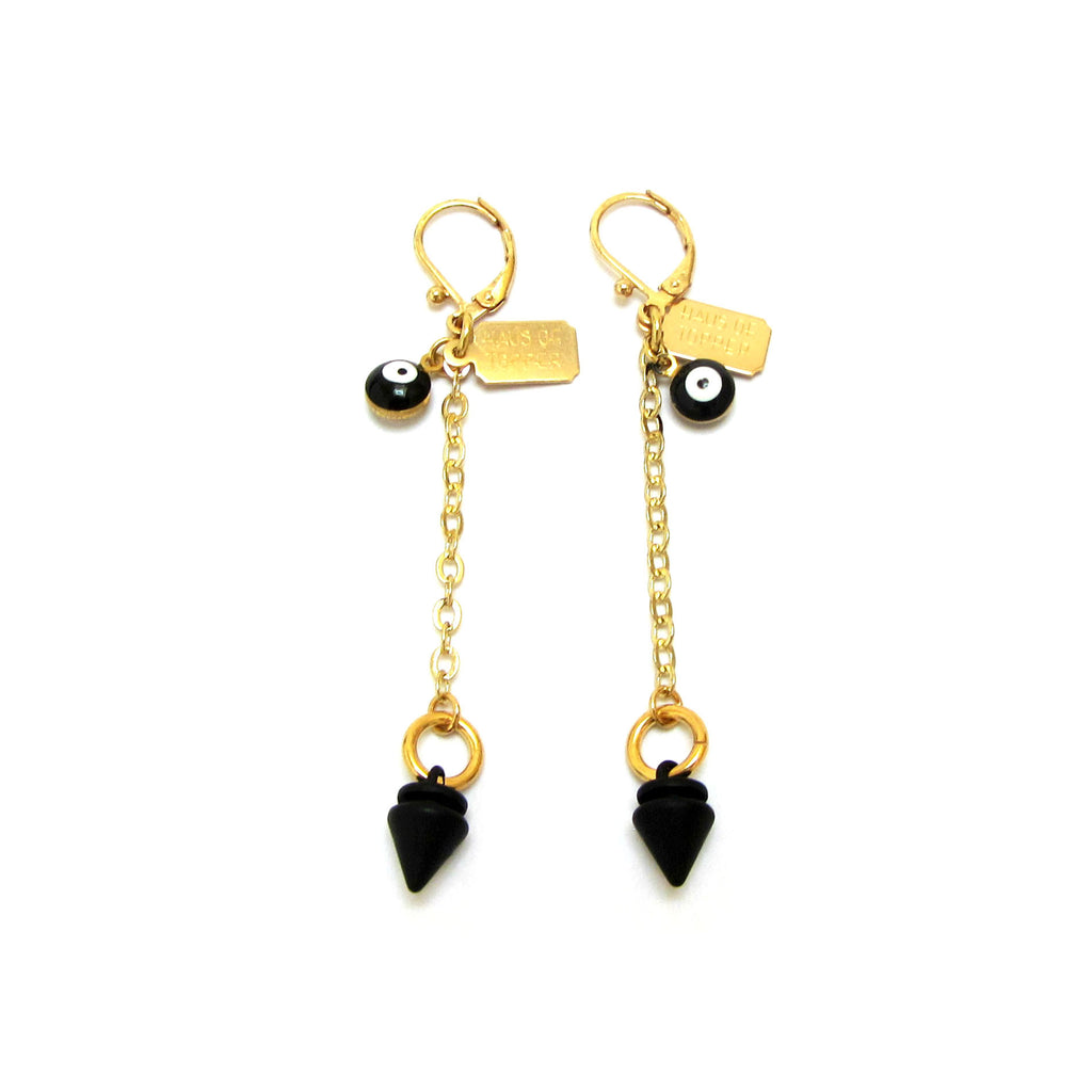 Pyramid Drop Earrings - Haus of Topper