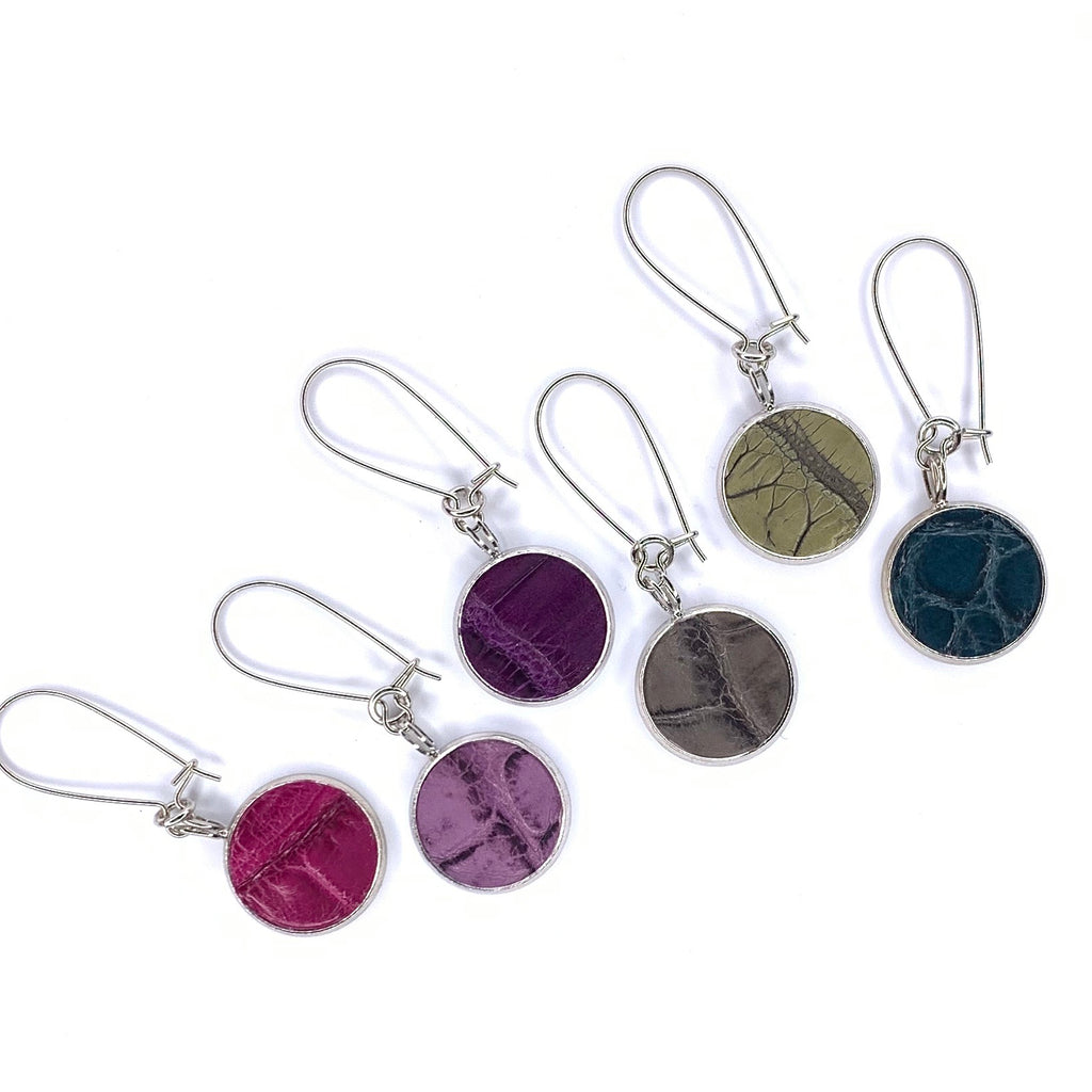 Wine Charms in Silver & Croc