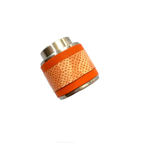 Orange Striped Wine Bottle Stopper