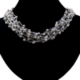 Fairy Lights Inspired Designer White Pearl necklace - T&L Singapore