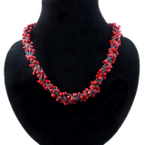 Fairy Lights Inspired Designer Red Crystal necklace - T&L Singapore