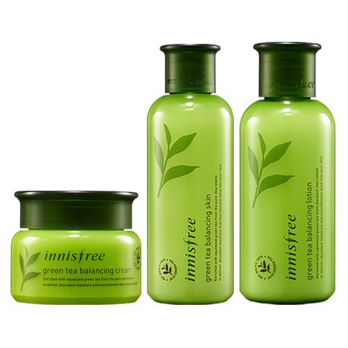 Innisfree Green Tea Balancing Skin + Balancing Lotion + Balancing Cream