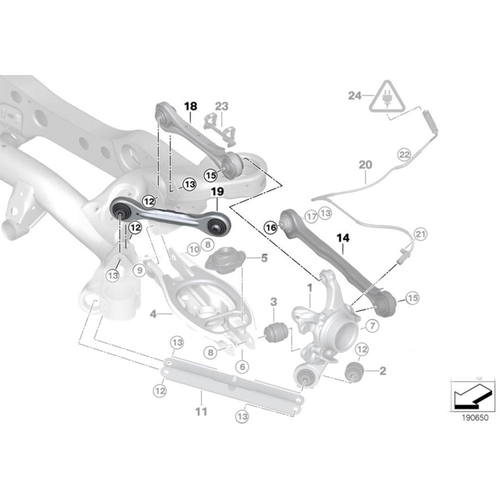 08-13 BMW 1-Series Godspeed Rear Lateral Links With Spherical Bearing
