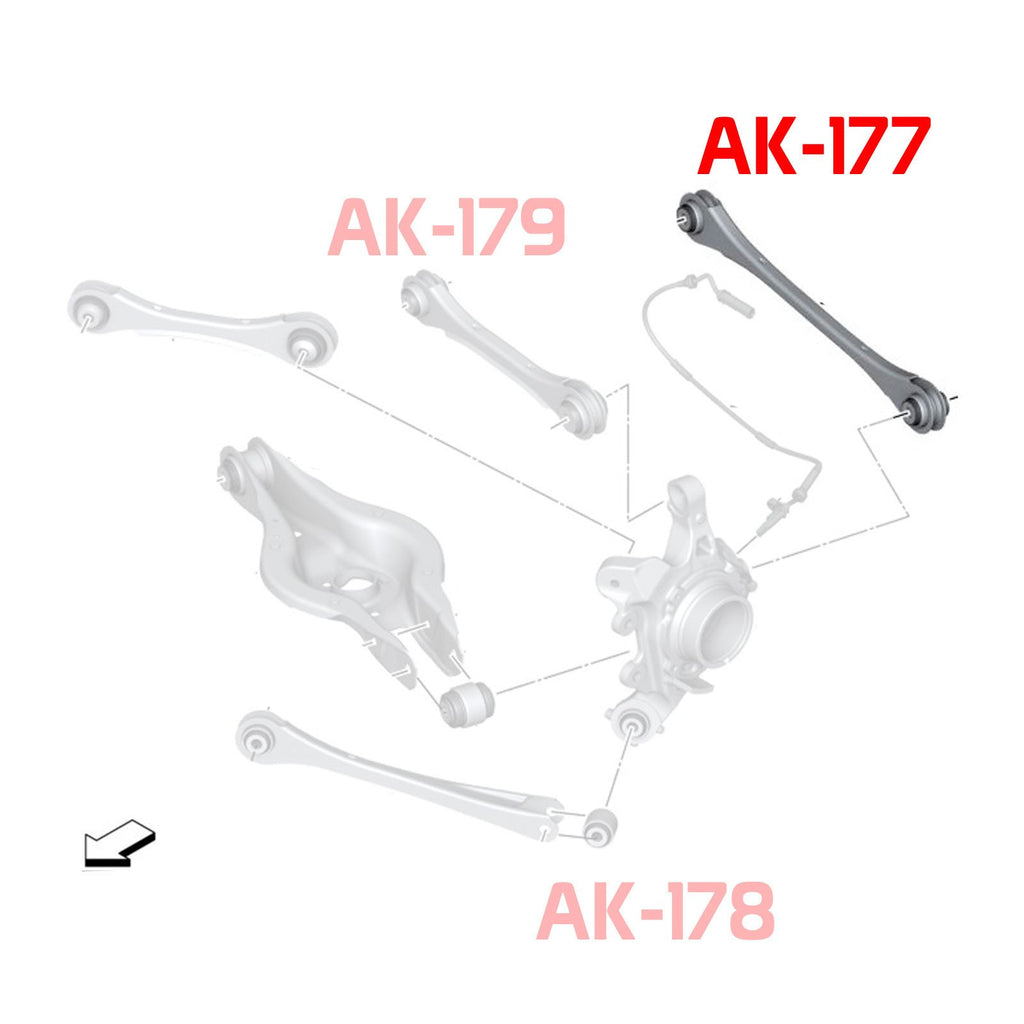 14-UP BMW 2-Series Godspeed Rear Toe Arms With Spherical Bearing