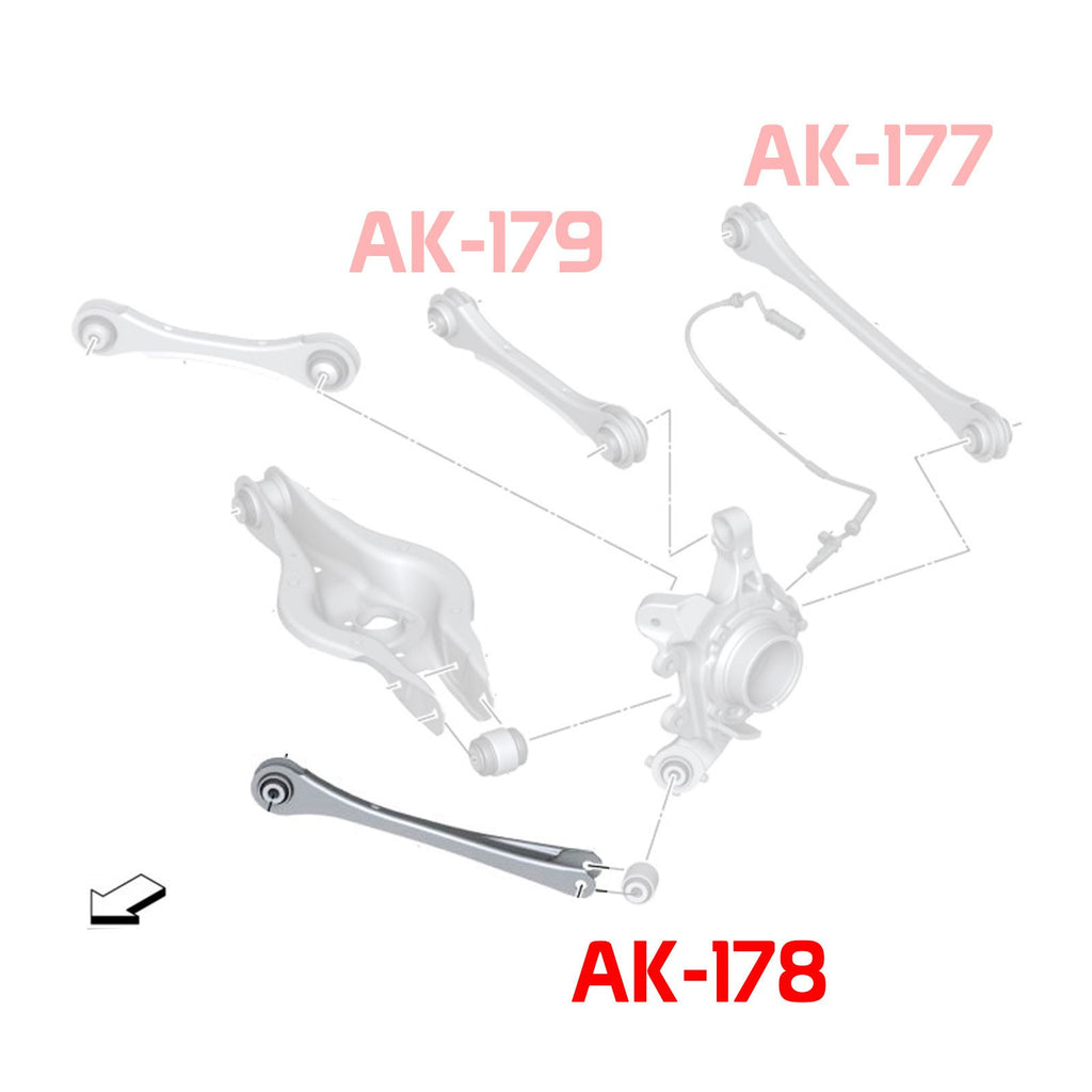 14-UP BMW 2-Series Godspeed Rear Trailing Arms With Spherical Bearing