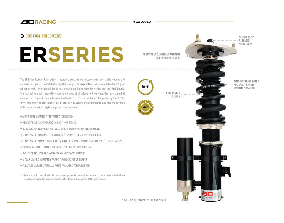 92-99 BMW 3 series E36 BC Coilovers - ER Type