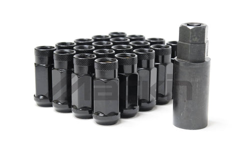 Monster Lug Open Ended Lug Nuts 14mm , 20pcs - Black