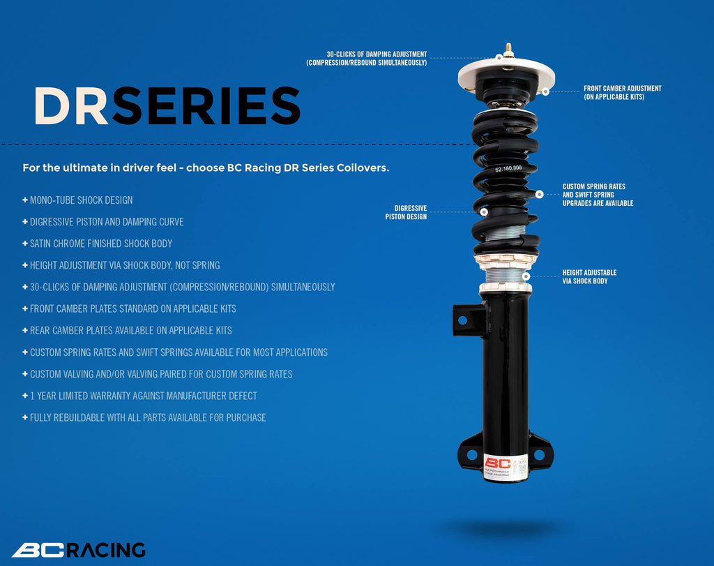 03-10 6 Series (M/non-M) E63/E64 BC Racing Coilovers - DR Type