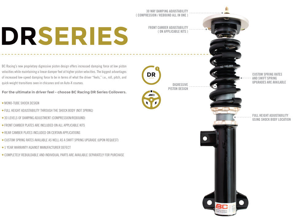 06-13 Lexus IS250 (AWD) BC Racing Coilovers - DS Type