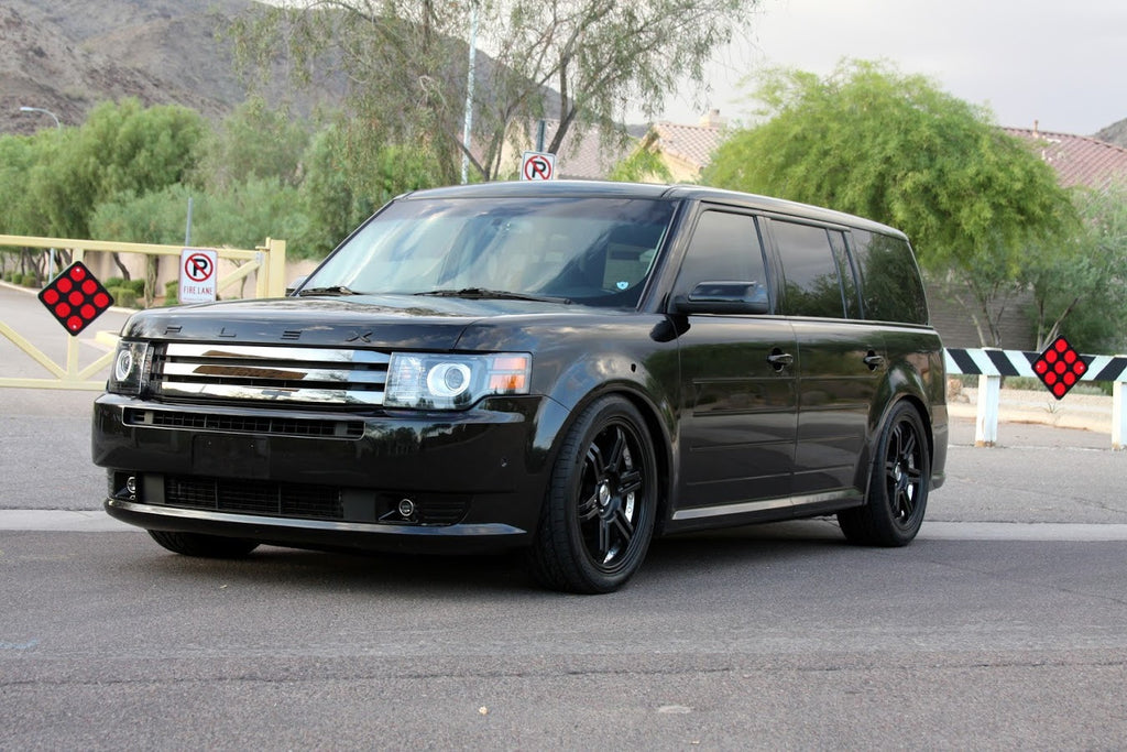 BC Racing Coilovers on a Ford Flex
