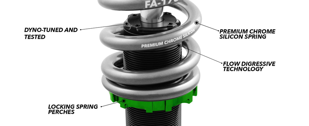 03-10 Saab 9-3 Fortune Auto Coilovers - 500 Series