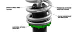 83-87 Toyota Corolla (AE86) w/ Spindle (True Rear) Fortune Auto Coilovers - 500 Series