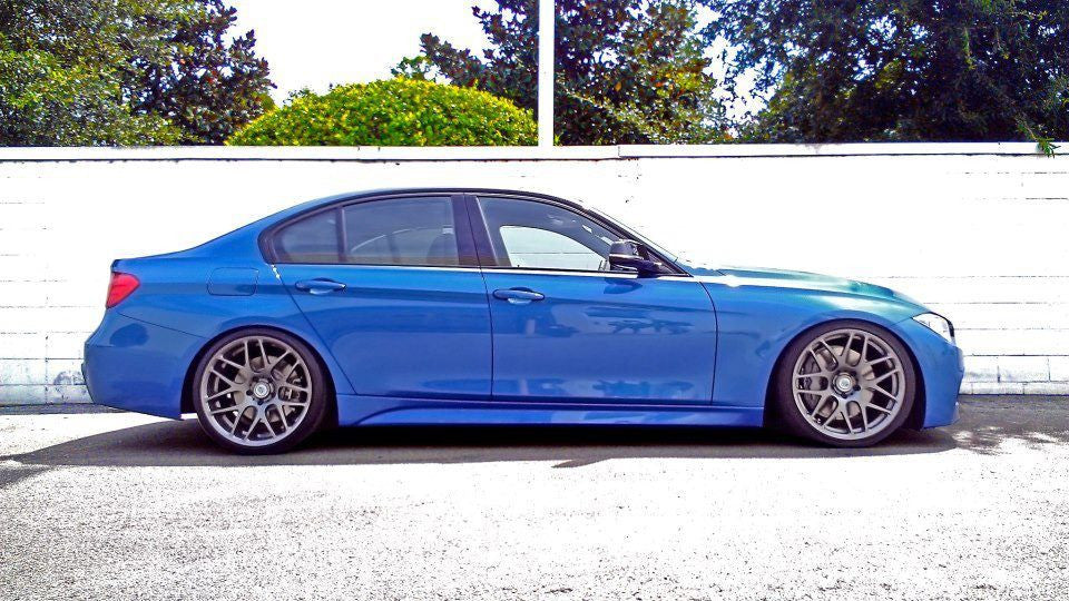 BC Racing Coilovers installed on a bmw F30